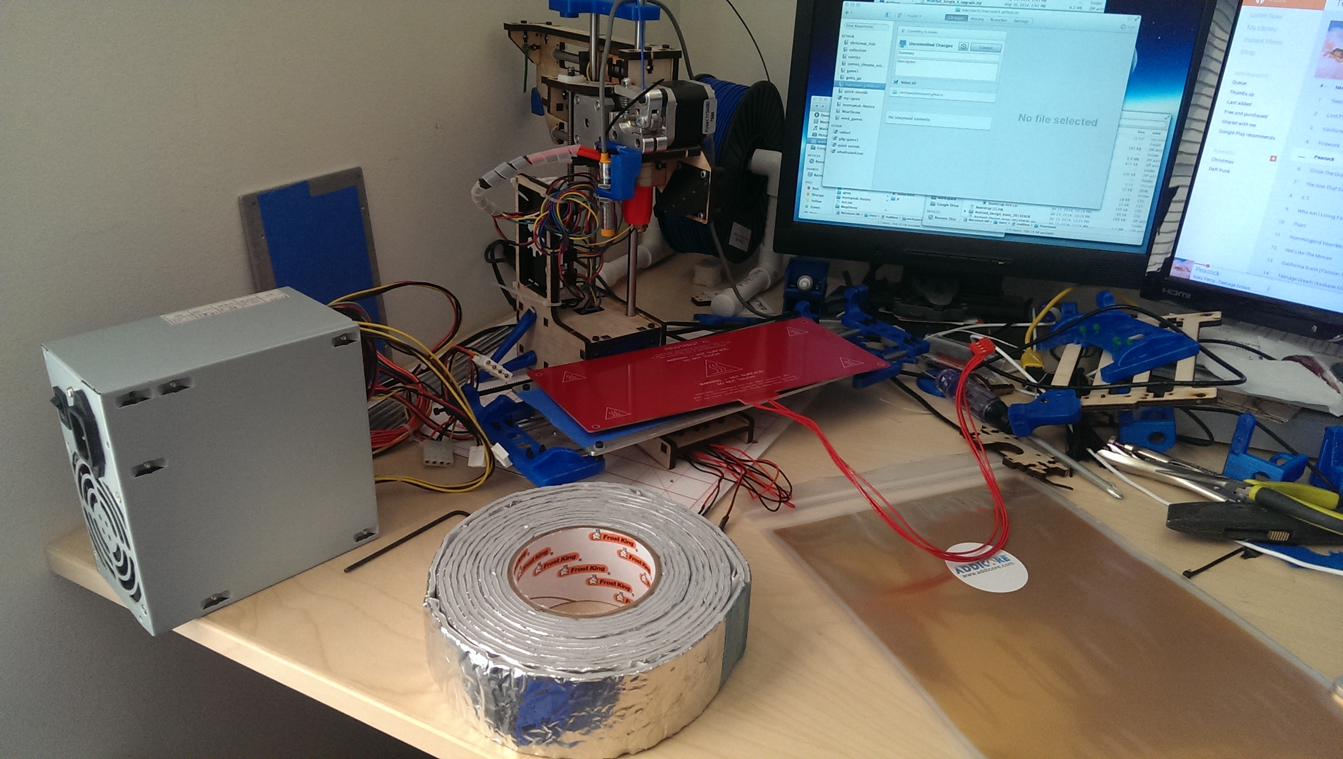how to install a heated print bed in a printrbot simple